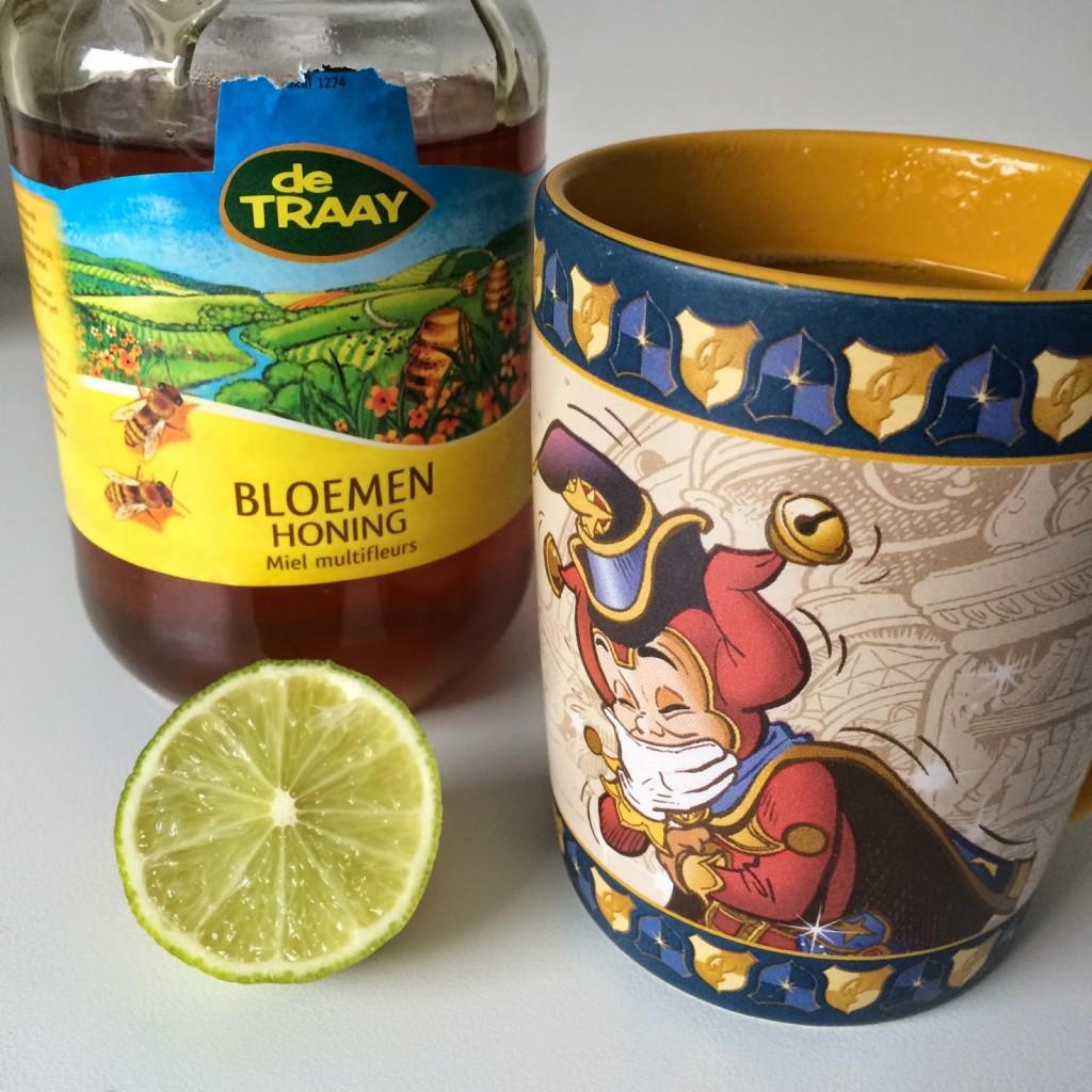 koffie vervangen door limoenthee met honing