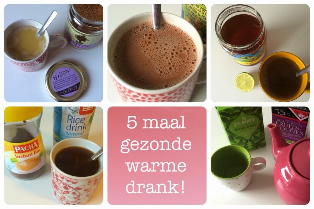koffie vervangen door gezonde warme drank