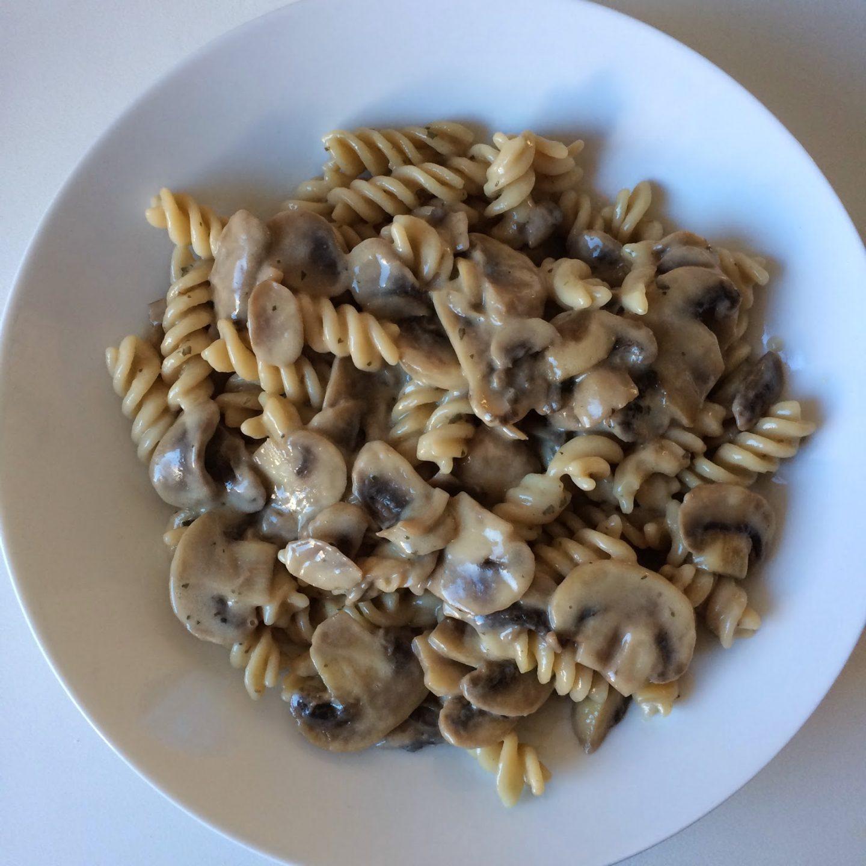 Recept: romige champignonpasta