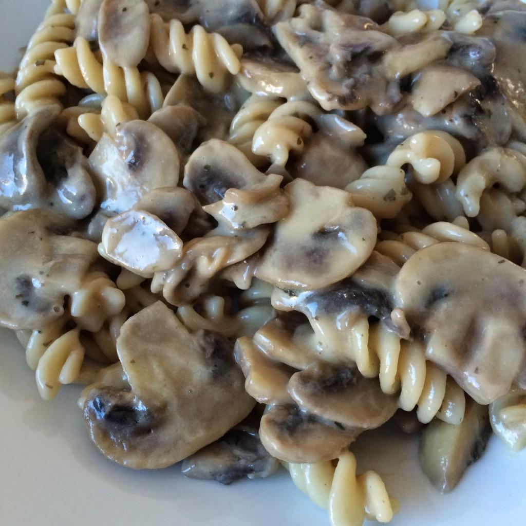 champignonpasta glutenvrij zuivelvrij