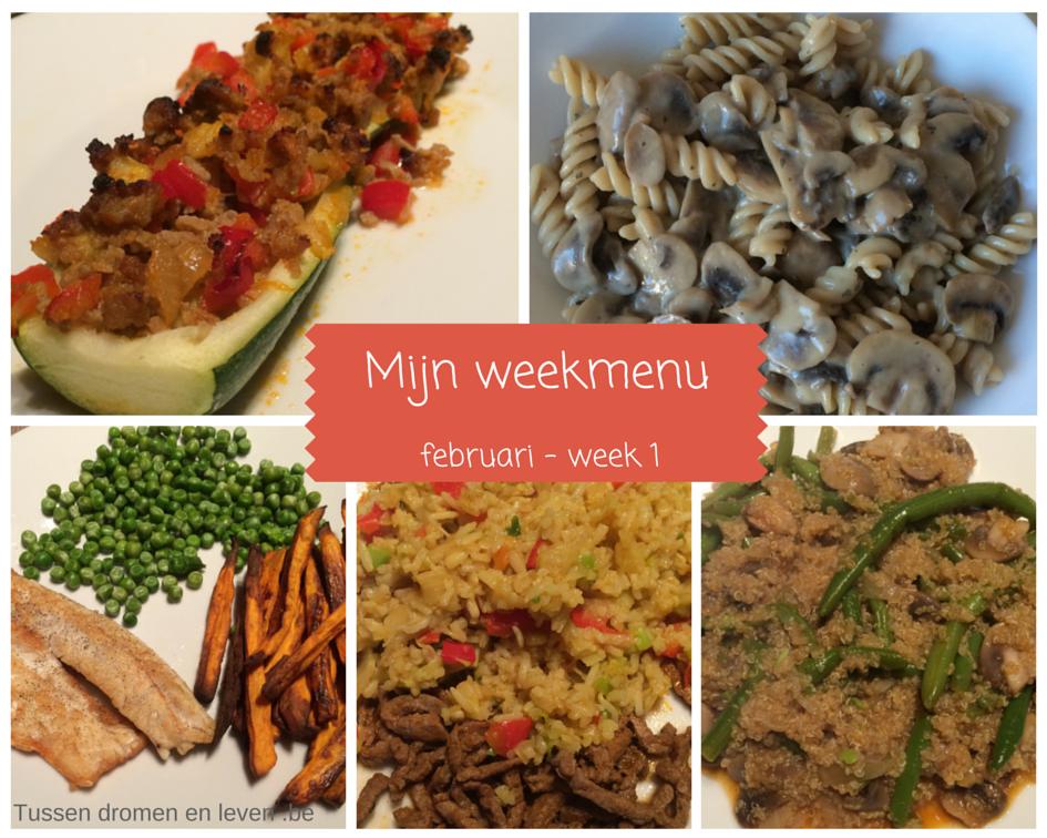 Mijn weekmenu – februari: week 1
