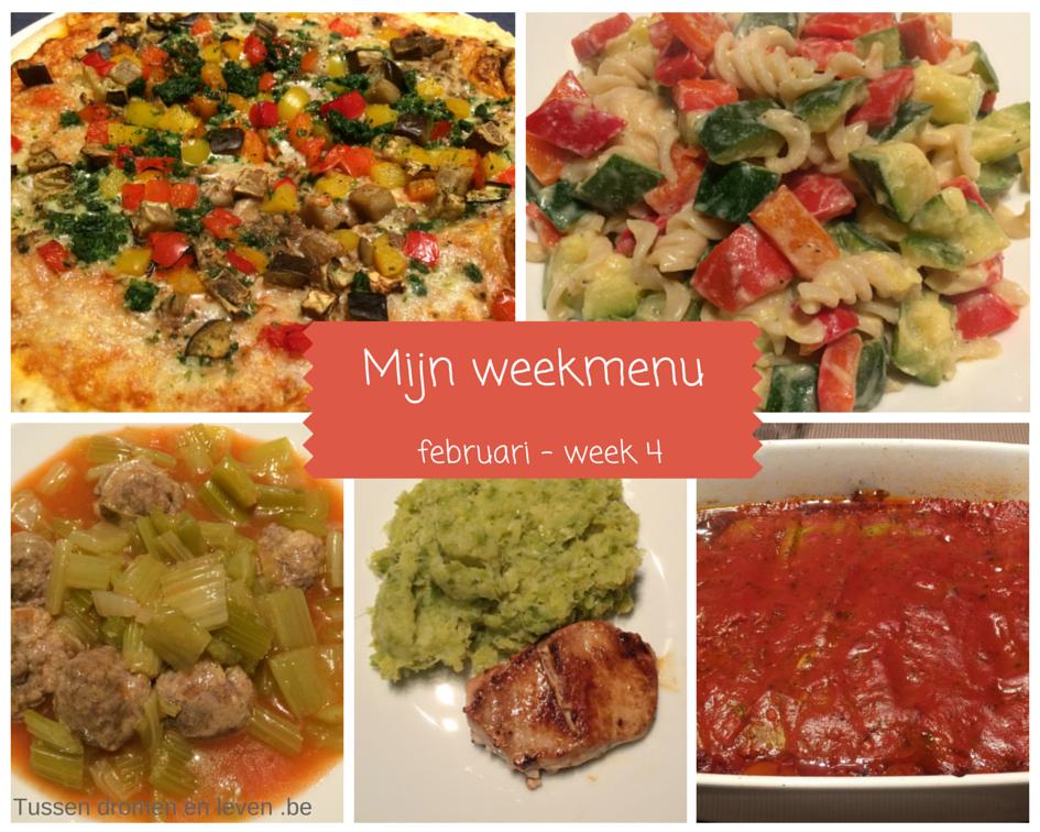 Mijn weekmenu – februari week 4