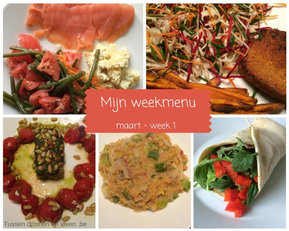 Mijn weekmenu – maart, week 1