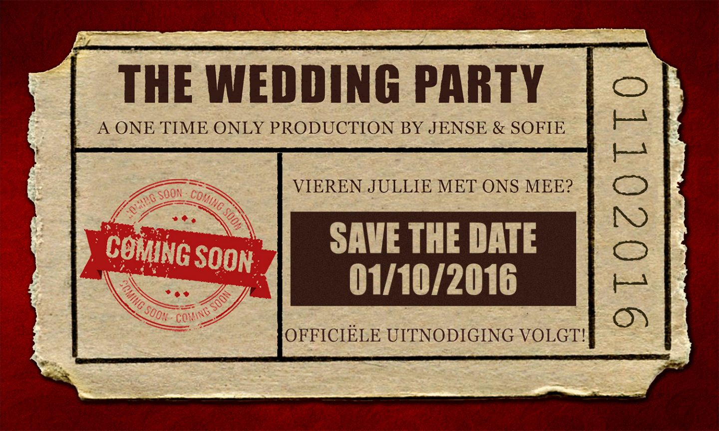 save the date kaart thema film
