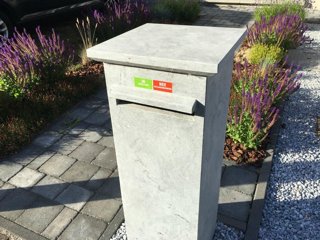 Groene tip: antireclamesticker op de brievenbus