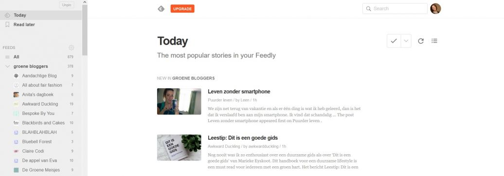 overstappen van Bloglovin' naar Feedly