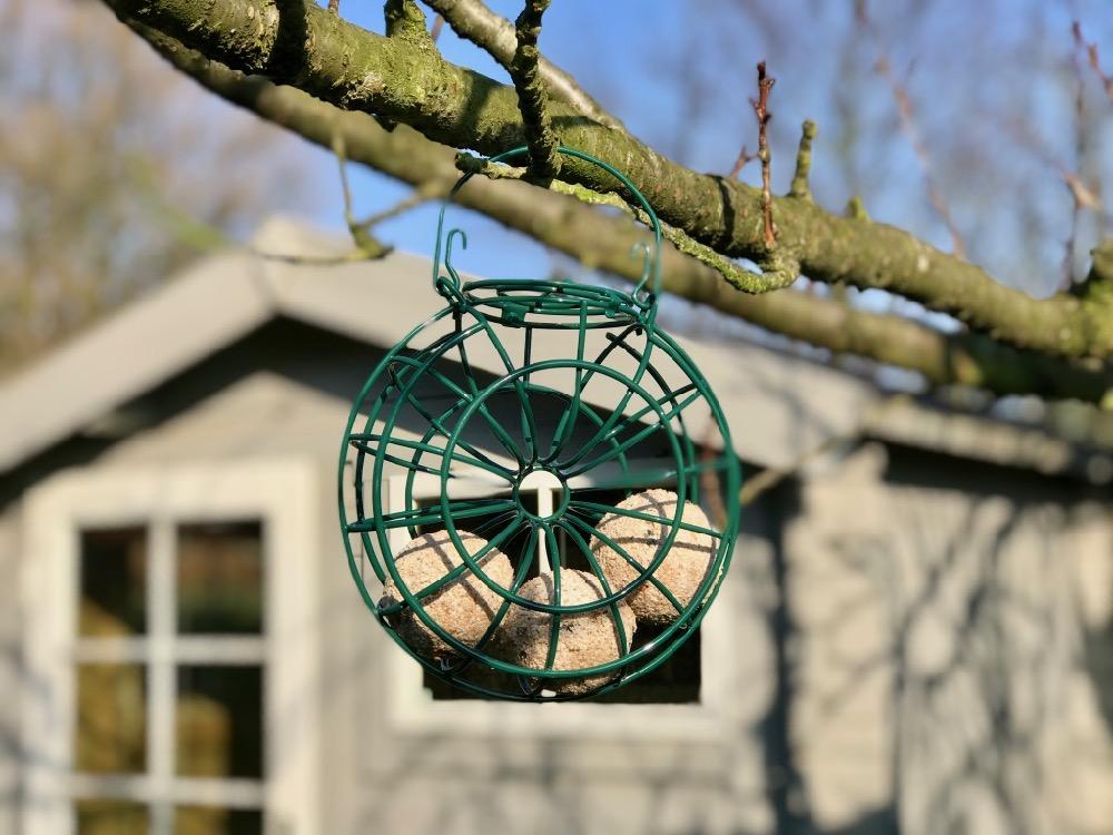 afvalvrij vogels voederen, vetbollen zonder plastic netje
