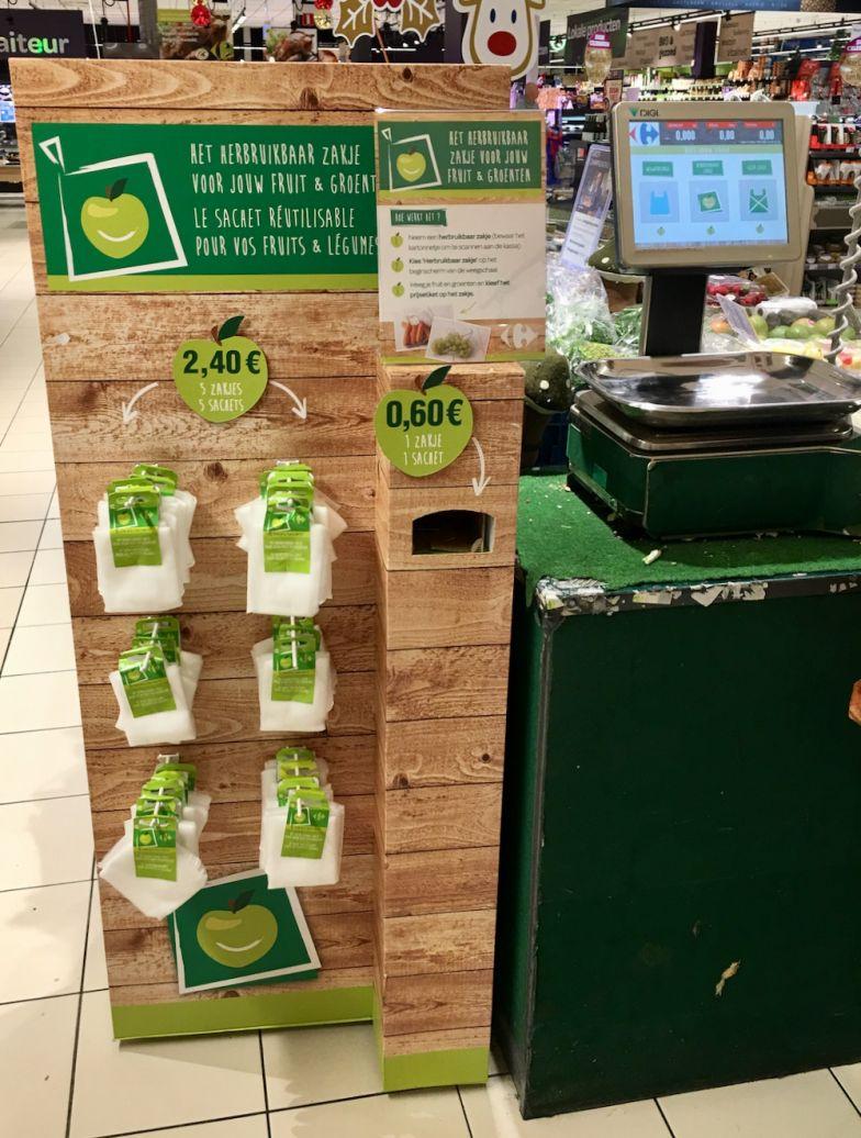herbruikbare zakjes Carrefour