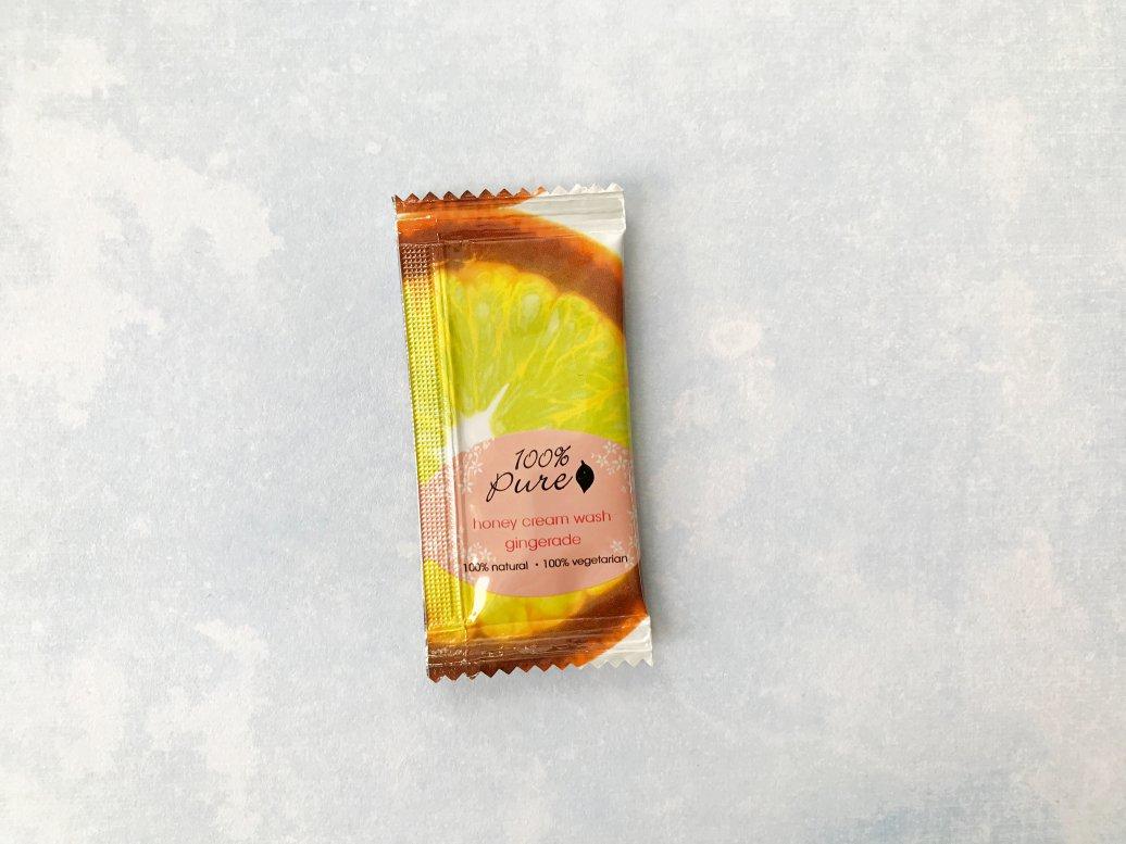 natuurlijke douchegel review 100% pure honey Cream wash gingerade ervaring