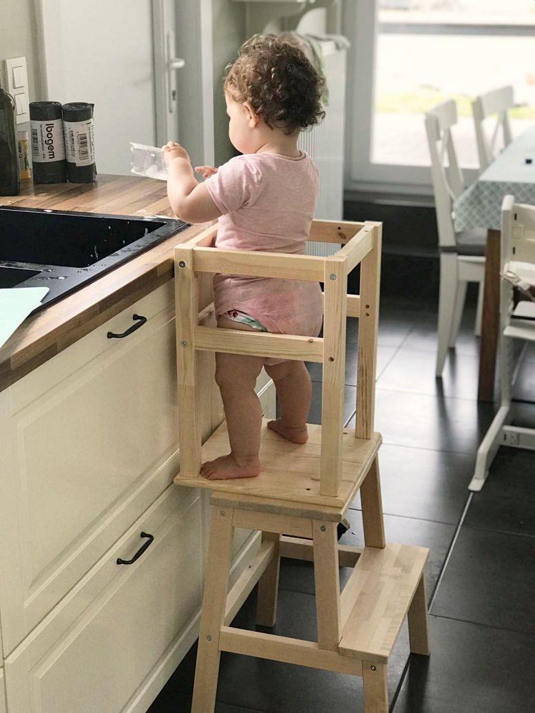 Hoe Maak Je Zelf Een Leertoren Montessori Ikea Hack Tussen Dromen En Leven