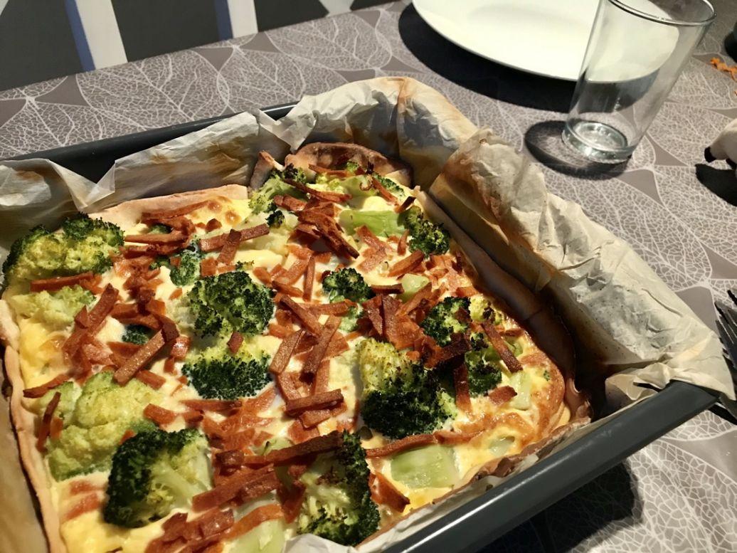 Recept: glutenvrije quiche met broccoli en vegetarische spekjes