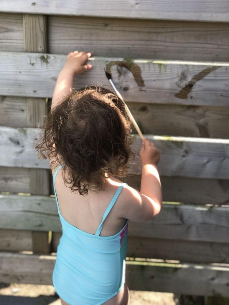 Duurzaam spelen: Schilderen met water