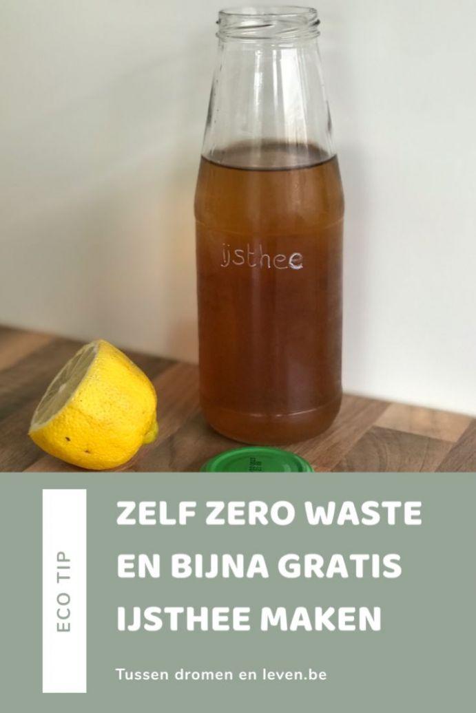 Zero waste zelf ijsthee maken