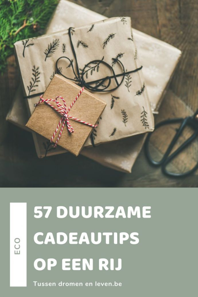 duurzame cadeautips lijstje