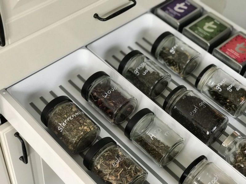 Zero waste thee zetten en losse thee opbergen