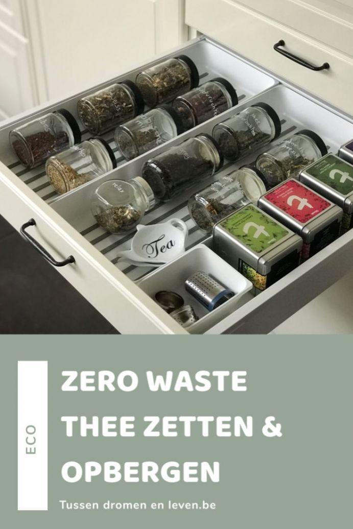 losse thee opbergen, zero waste thee zetten